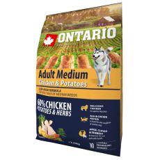 ONTARIO Adult Medium - chicken & potatoes 2,25 kg