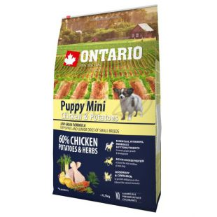 ONTARIO Puppy Mini - chicken and potatoes, 6,5 kg