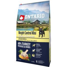 ONTARIO Weight Control Mini - turkey & potatoes, 6,5 kg
