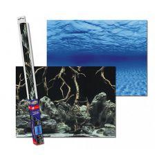 Ozadje za akvarije KORENINE/VODA S - 60 x 30 cm