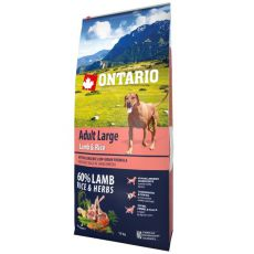 ONTARIO Adult Large - lamb & rice, 12 kg