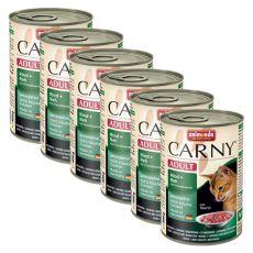 Konzerva mačje hrane CARNY ADULT z govedino, srno in brusnicami - 6 x 400 g