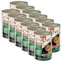 Konzerva mačje hrane CARNY ADULT z govedino, srno in brusnicami - 12 x 400 g