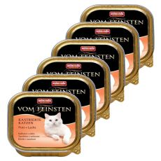 Animonda Vom Feinsten Castrated Cats - puran + losos 6 x 100g