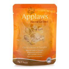 Vrečka z mačjo hrano APPLAWS, piščanec in buča, 70 g