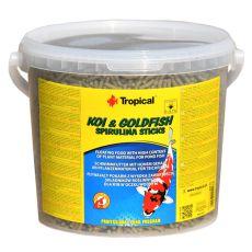 TROPICAL Koi & Goldfish Spirulina Sticks - 5L / 430 g