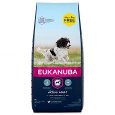 EUKANUBA ADULT MEDIUM Breed 15kg + 3kg GRATIS