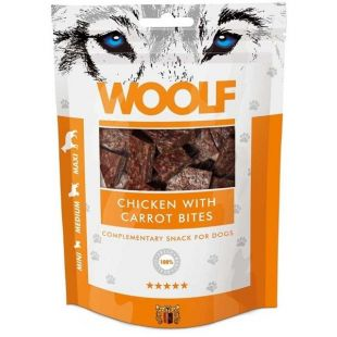WOOLF Chicken with Carrots Bites 100 g