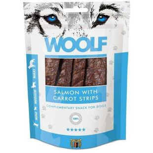 WOOLF Salmon with Carrots Strips 100 g