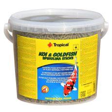 Palčke iz spiruline TROPICAL Koi & Goldfish – 21 L /1,8 kg