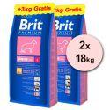 Brit Premium Junior Large 2 x 15kg + 6kg BREZPLAČNO