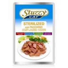 Vrečka mačje hrane Stuzzy cat STERILIZED - puran, 100 g