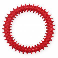 Gumijast obroč z izrastki – rdeč, 12,5 cm