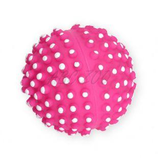 Pasja igrača – vinilna žoga z izrastki, roza – 7 cm