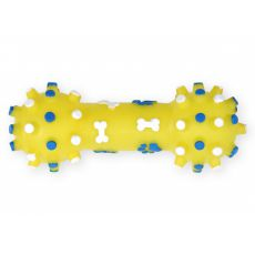 Pasja igrača – piskajoča utež iz vinila, rumena, 12 cm