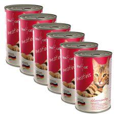 Konzerva BEWI CAT Meatinis PERUTNINA - 6 x 400 g, 5+1 GRATIS