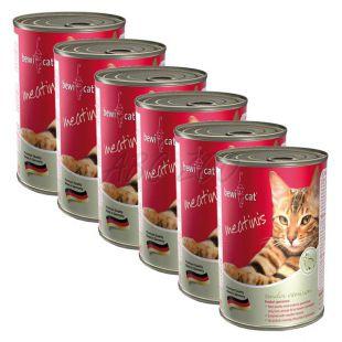Konzerva BEWI CAT Meatinis WILD 6 x 400 g