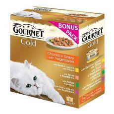 Mačja hrana v konzervah GOURMET PERLE – mesni koščki v omaki, 8 x 85 g