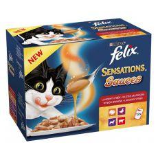 Felix Sensations Sauces – okusen izbor različnih hran v omaki, 12 x 100 g