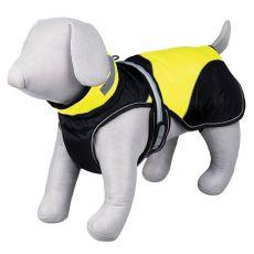 Pasji plašč Safety Flash, črno-rumen z lučko, L 55 cm