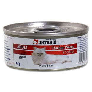 ONTARIO Cat Chicken Pieces + Scallop 95 g