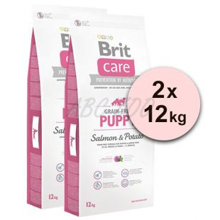 Brit Care Grain-free Puppy Salmon & Potato 2 x 12kg