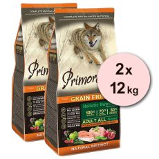 Primordial GF ADULT - piščanec in losos 2 x 12 kg