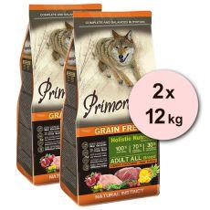 Primordial GF ADULT - divjačina in puran 2 x 12 kg