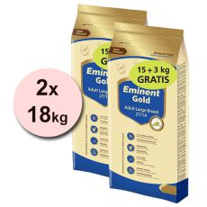 EMINENT GOLD Adult Large Breed 2 x 15 kg + 6 kg BREZPLAČNO