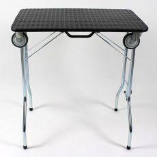 Zložljiva miza za nego s kolesi 90 x 55 x 85 cm, črna