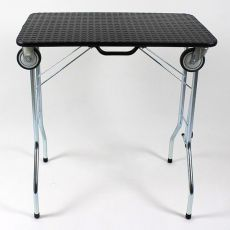 Zložljiva miza za nego s kolesi 110 x 55 x 60 cm, črna