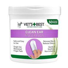 Čistilne naprstne vatke za čiščenje pasjih ušes VET´S BEST, 50 kosov