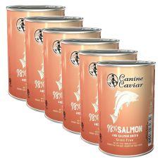 Konzervirana pasja hrana Canine Caviar SALMON Grain Free 6 x 375 g
