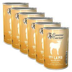 Konzervirana pasja hrana Canine Caviar LAMB Grain Free 6 x 375 g