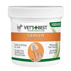 Okrogle blazinice za čiščenje oči VET´S BEST, 100 kosov