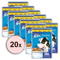Felix hrana - piščanec v želeju, 20 x 100 g