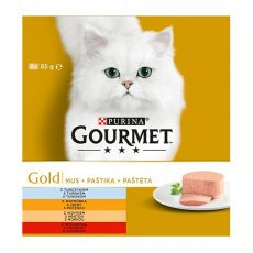 Konzerva mačje hrane GOURMET GOLD, pašteta, 8 x 85 g