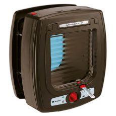 Vrata za mačje na mikročip Swing Microchip, rjava, 22,5 x 16,2 x 25,2 cm