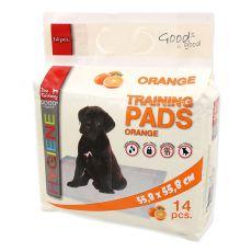 Vzgajalne podloge za pse 55 x 55 cm, pomaranča, 14 kosov