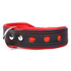 Odsevna ovratnica Neo, črno-rdeča 4 cm x 50 - 60 cm