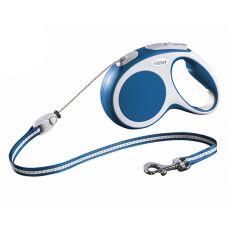 Povodec Flexi Vario S do 12 kg, 5 m vrvica - modra