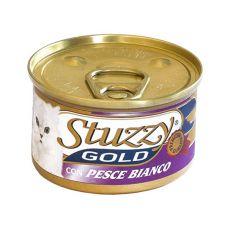 Konzerva mačje hrane STUZZY Gold – bela riba, 85 g