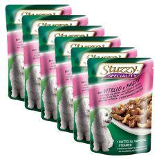 Stuzzy Speciality Dog – teletina s testeninami, 6 x 100 g