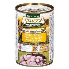 Konzerva pasje hrane STUZZY Dog Monoprotein – piščanec, 400 g