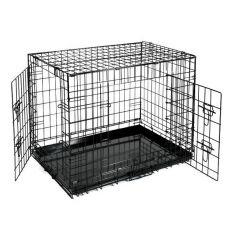 Kletka za psa Black Lux – z 2 vrati, S – 61,5 x 42,5 x 50 cm