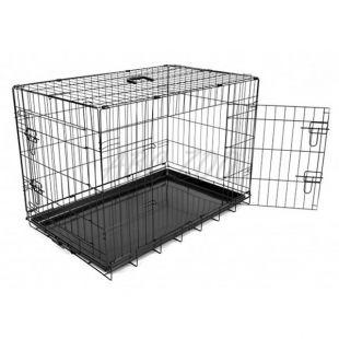 Kletka za psa Black Lux – z 2 vrati, M – 78,5 x 52,5 x 59 cm