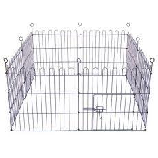 Ograda Dog Park Black Lux 8 delov, L - 61 x 91 cm