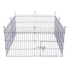 Ograda Dog Park Black Lux 8 delov, XL - 61 x 106 cm