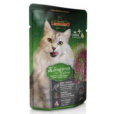 Vrečka hrane Leonardo kenguru in mačja trava, 85 g