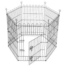 Ograda Dog Park Black Lux 6 delov, XL - 61 x 106 cm